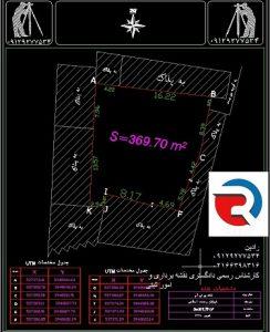 نقشه جانمایی ثبتی تهران
