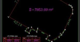 نقشه برداری UTM تهران