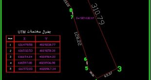 تهیه نقشه UTM سند تهران